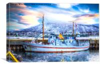 Tromso Fishing Boat, Canvas Print