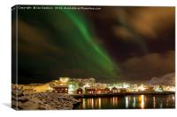 Aurora over Kabelvag, Canvas Print
