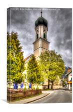 The Church in Oberammergau, Canvas Print