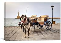 Chania Transport, Canvas Print