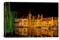 Brugge Canal, Canvas Print