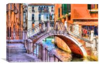 Small Venetian Bridge, Canvas Print
