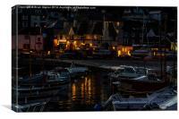 Evening Over Lyme Regis Harbour, Canvas Print