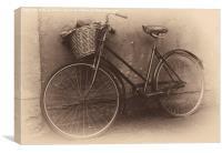 Antique Bicycle, Canvas Print