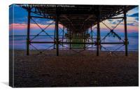 Under Worthing Pier, Canvas Print
