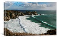 Porthcurno Beach, Canvas Print
