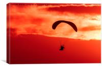 Hang Glider Sunset, Canvas Print