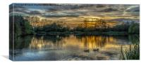 Waterside Sunset, Canvas Print