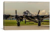 Lancaster Bomber , Thumper, Canvas Print