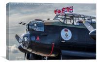 Mynarski Lancaster Bomber , Canvas Print