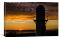 Paull Sunset, Canvas Print