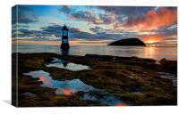 Trwyn Du Lighthouse Penmon Anglesey, Canvas Print