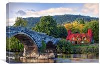 Tu Hwnt I'r Bont, Llanrwst, Wales, Conwy, Canvas Print