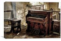 Packard Fort Wayne Organ, Conwy, Canvas Print
