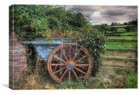 Old and Overgrown Cart, Canvas Print