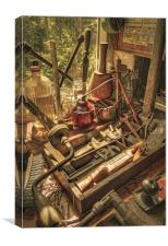 Vintage Tools In a Shed, Canvas Print