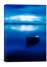 Blue Blue Boat, Canvas Print