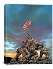 The Battle of Iwo Jima, Canvas Print