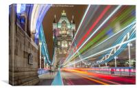 Tower Bridge Whoosh, Canvas Print