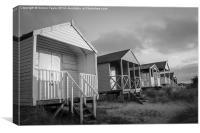 Old Hunstanton Beach huts , Canvas Print