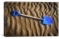 The blue Spade, Canvas Print