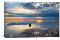 Heacham buoys at sunset, Canvas Print