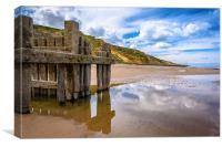 Trimingham beach, Norfolk, Canvas Print