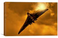 Avro Vulcan XH558 at sunset, Canvas Print