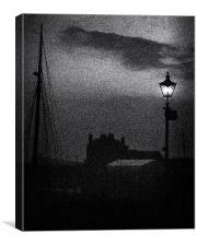 Moonlight Gas Lamp, Canvas Print