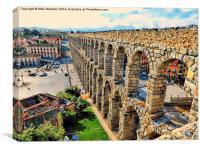 Roman Aqueduct Segovia Spain, Canvas Print