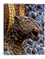 Gaudi Mosaic - Snake Head, Canvas Print
