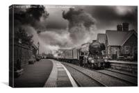 Flying Scotsman, Dent Station 9/7/2017, Canvas Print