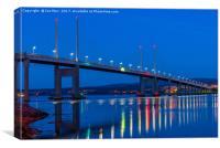 North Kessock Bridge, Inverness, Scotland, Canvas Print