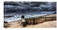 Heacham North Beach, Canvas Print
