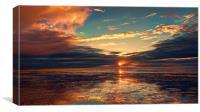 Heacham Beach Sunset, Canvas Print