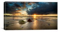 Hunstanton Sunset, Canvas Print