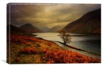Wast Water and the Screes, Canvas Print