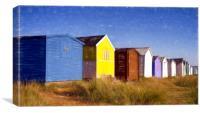 Heacham Beach Huts, Canvas Print