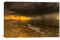 Heacham Beach before the storm, Canvas Print