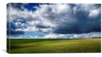 Clouds over Fring, Norfolk, Canvas Print