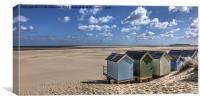 Wells Beach Huts, Canvas Print