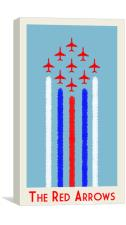 Red Arrows Vintage Style Poster, Canvas Print
