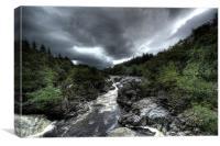 River Orchy Landscape, Canvas Print