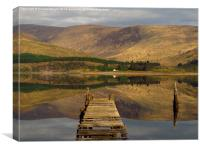 The Jetty, Loch Linnhe ( Landscape Version ), Canvas Print