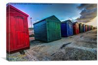 beach huts , Canvas Print