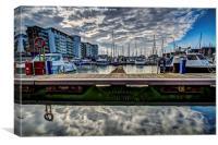 harbour stillness, Canvas Print