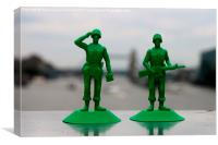 Toy Soldiers , Canvas Print