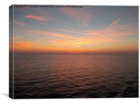 Sunset over the mediterranean sea , Canvas Print