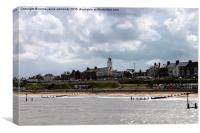 southwold lighthouse and beach, Canvas Print