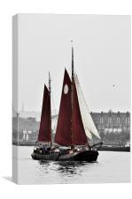 Thames Barge, Canvas Print
